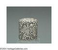 Silver Smalls:Other , AN AMERICAN SILVER CHASED POWDER JAR