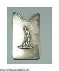 Silver Smalls:Other , AN AMERICAN SILVER GOLF CARD CASE