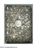 Silver Smalls:Cigarette Cases, AN AMERICAN COIN SILVER CALLING CARD CASE