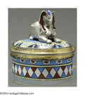 Silver Smalls:Other , A CONTINENTAL GILT AND ENAMEL SILVER EGYPTIAN-THEME BOX