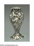 Silver Holloware, American:Vases, AN AMERICAN SILVER ART NOUVEAU VASE