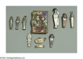 Silver Smalls:Other , AN ASSORTED GROUP OF TEN SILVER ENAMELLED EGYPTIAN PENDANTS ... (10)