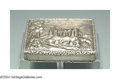 Silver Smalls:Snuff Boxes, AN ARCHITECTURAL-DECORATED ENGLISH SILVER SNUFF BOX