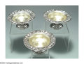 Silver Holloware, American:Bowls, A GROUP OF THREE AMERICAN SILVER STRAWBERRY MOTIF BOWLS