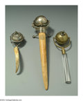 Silver Smalls:Cigar Lamps, A GROUP OF ENGLISH SILVER AND OTHER METALS CIGAR LAMPS