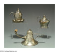 Silver Smalls:Cigar Lamps, THREE AMERICAN SILVER CIGAR LAMPS