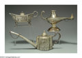 Silver Smalls:Cigar Lamps, A GROUP OF CONTINENTAL SILVER CIGAR LAMPS