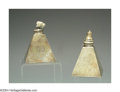 Silver Smalls:Cigar Lamps, A PAIR OF AMERICAN SILVER CIGAR LAMPS