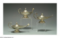 Silver Smalls:Cigar Lamps, A GROUP OF THREE SILVER CIGAR LAMPS