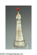 Silver Smalls:Cigar Lamps, AN ENGLISH EDWARDIAN SILVER FIGURAL CIGAR LAMP
