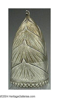 Silver & Vertu:Smalls & Jewelry, AN AMERICAN SILVER FIGURAL CIGAR LAMP. Maker unknown, c.1905. In the form of a tobacco plant bud, cap can be removed to re...