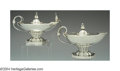 Silver Smalls:Cigar Lamps, A PAIR OF DANISH SILVER CIGAR LAMPS