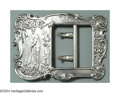 Silver Smalls:Buckles, AN AMERICAN SILVER CRICKET TROPHY BUCKLE