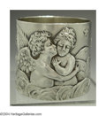 Silver Holloware, Continental:Holloware, A FRENCH SIVER ANGELIC NAPKIN RING
