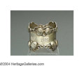 Silver Holloware, American:Napkin Rings, A SILVER STRAWBERRY MOTIF NAPKIN RING