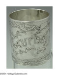 Silver Flatware, American:Gorham, AN AMERICAN SILVER ACID-ETCHED NAPKIN RING