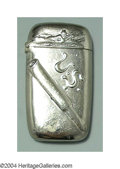 Silver Smalls:Match Safes, AN AMERICAN SILVER PLATE MATCH SAFE