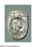 Silver Smalls:Match Safes, AN AMERICAN SILVER ART NOUVEAU MATCH SAFE