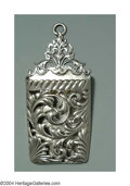 Silver Smalls:Match Safes, WALL MOUNTED SILVER MATCH HOLDER
