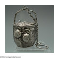 Silver Smalls:Other , AN AMERICAN SILVER FIGURAL TEA BALL