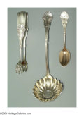 Silver Flatware, American:Shiebler, A GROUP OF THREE AMERICAN SILVER CORINTHIAN PATTERN SERVERS