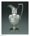 Silver Holloware, American:Coin Silver, AN AMERICAN SILVER NEO-CLASSICAL PITCHER
