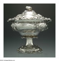 Silver Holloware, American:Coin Silver, AN AMERICAN SILVER COVERED FRUIT BOWL