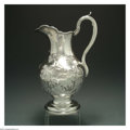 Silver Holloware, American:Coin Silver, AN AMERICAN SILVER PRESENTATION PITCHER