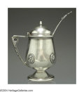 Silver Holloware, American:Coin Silver, AN AMERICAN COIN SILVER MEDALLION MUSTARD POT AND MATCHING ...