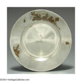 Silver Holloware, American:Bowls, AN AMERICAN SILVER AESTHETIC MOVEMENT MIXED METAL BOWL