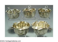 Silver Holloware, American:Other , A SET OF FIVE AMERICAN SILVER AESTHETIC MOVEMENT OPEN SALTS ... (10)