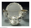 Silver Holloware, American:Tea Sets, AN AMERICAN SILVER JAPANESE STYLE TEA SET