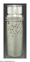Silver & Vertu:Hollowware, AN AMERICAN MIXED METAL AESTHETIC MOVEMENT VASE. Mark of Gorham, Providence, Rhode Island, c.1879. The cylindrical body wi...