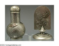 Silver Smalls:Other , AN AMERICAN MIXED METAL JAPANESE STYLE VINAIGRETTE AND CARD ... (2)