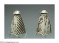Silver Holloware, American:Mixed Metal, AN UNUSUAL PAIR OF AMERICAN MIXED METAL SHAKERS