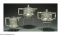 Silver & Vertu:Hollowware, AN AMERICAN SILVER TETE A TETE TEA SERVICE. Mark of Shiebler, New York, c.1885. Comprising a teapot, covered sugar bowl and ... (Total: 5 Item)