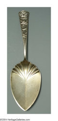 Silver Flatware, American:Shiebler, AN AMERICAN SILVER CHRYSANTHEMUM PATTERN PASTRY SERVER
