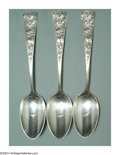 Silver Flatware, American:Shiebler, A SET OF THREE AMERICAN SILVER CHRYSANTHEMUM PATTERN TABLE ... (3 )