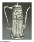 Silver Holloware, American:Coffee Pots, AN AMERICAN SILVER AESTHETIC MOVEMENT COFFEE POT
