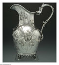 Silver Holloware, American:Coin Silver, AN AMERICAN COIN SILVER WATER PITCHER