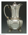 Silver Holloware, American:Chocolate Pots, AN AMERICAN SILVER CHRYSANTHEMUM PATTERN CHOCOLATE POT