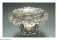 Silver Holloware, American:Tazze, AN AMERICAN SILVER BLACKBERRY PATTERN TAZZA