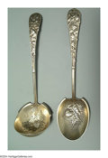 Silver Flatware, American:Gorham, A GROUP OF AMERICAN SILVER EGLANTINE PATTERN FLATWARE