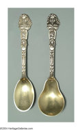 Silver & Vertu:Flatware, AN AMERICAN SILVER OLD MASTERS PATTERN SUGAR SHELL AND ICE CREAM SPOON. Mark of Gorham, Providence, Rhode Island, c.1885. ... (Total: 2 Item)