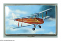 Silver & Vertu:Smalls & Jewelry, AN ENGLISH SILVER AND ENAMEL CIGARETTE CASE WITH AVIATION SCENE . Mark of F.C. Richards, Birmingham, 1921. The case with e...