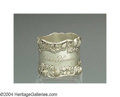 Silver Holloware, American:Napkin Rings, AN AMERICAN SILVER STRAWBERRY NAPKIN RING