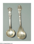 Silver Flatware, American:Other, AN AMERICAN SILVER ENGLISH KING PATTERN BOUILLON SOUP SPOON ... (2)