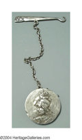 Silver Smalls:Other , AN AMERICAN SILVER HOMERIC MEDALLION PIN CUSHION AND BUTTON ...