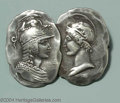 Silver Smalls:Other , AN AMERICAN SILVER HOMERIC MEDALLION BROOCH