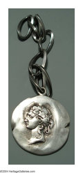 Silver Smalls:Other , AN AMERICAN SILVER HOMERIC MEDALLION WATCH FOB